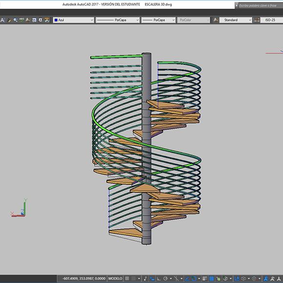 Diseño de Escalera con AutoCAD de Artmeval