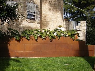 Jardineras en Acero Corten