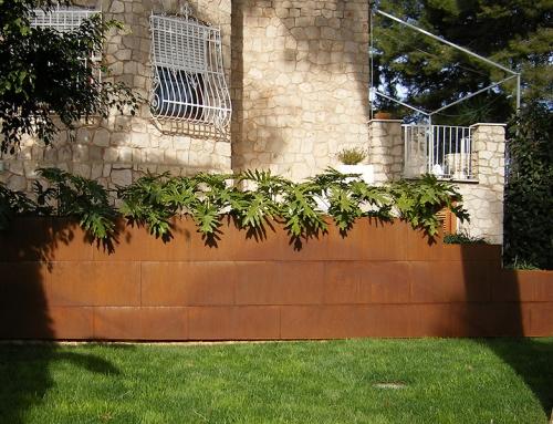 Jardinería en Acero Corten